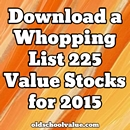 Download a Whopping List of 225 Value Stocks for 2015