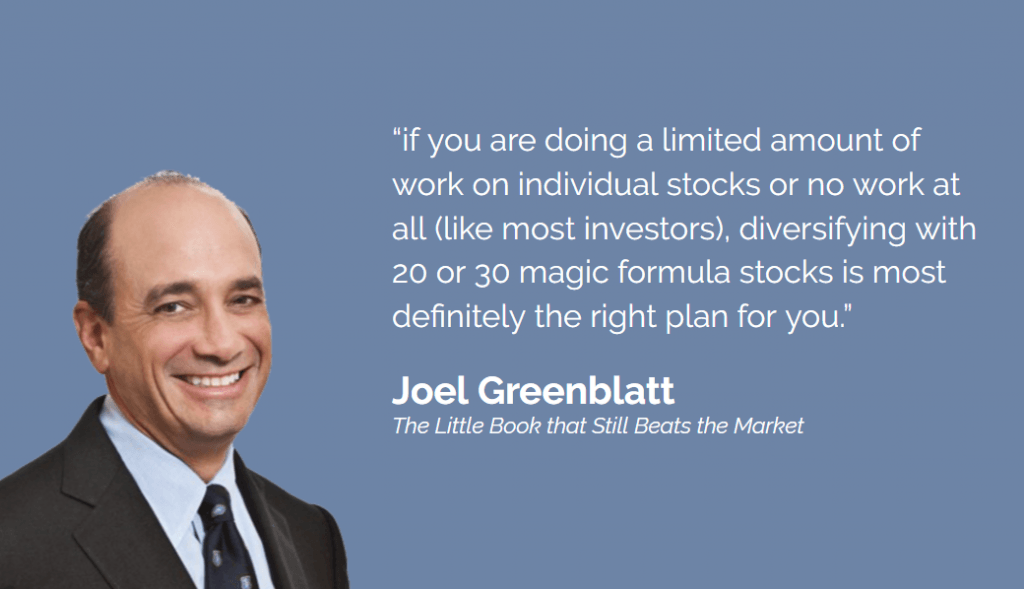 Joel Greenblatt on diversifying