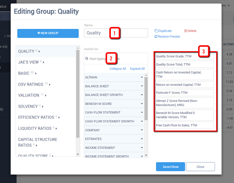 OSV quality screener report