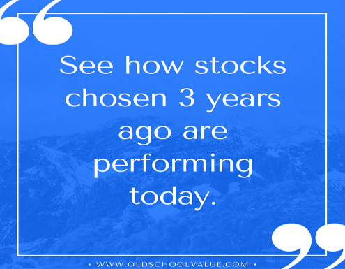 stock performance 3yrs ago